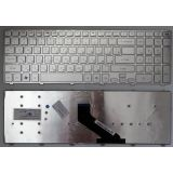 Клавиатура для ноутбука Packard Bell LS11, LS13, TS11, TS44, P5WS0, P7YS0, F4211/ Gateway NV55, NV75 серебряная