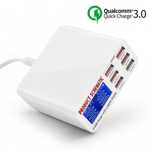 Зарядная станция WLX-896 6 портов USB с функцией Quick Charge 3.0