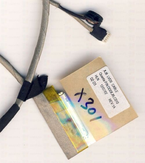 DD0XJ6LC000 Шлейф матрицы Asus F301A, X301A DD0XJ6LC010
